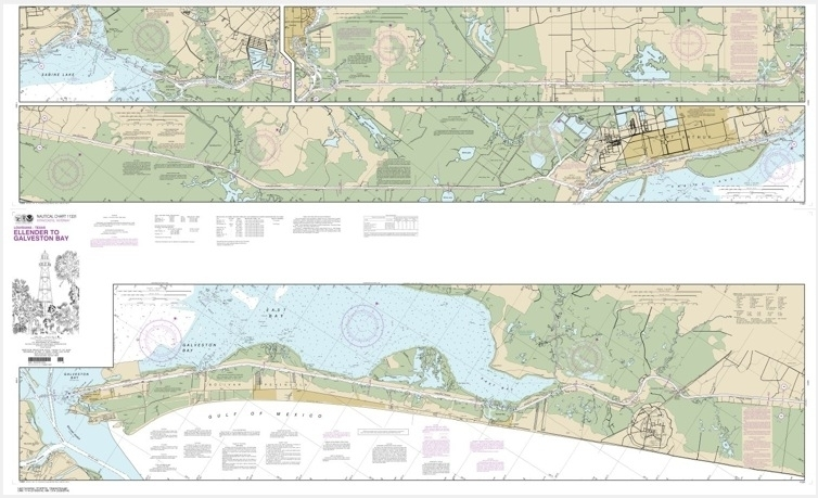 Intracoastal Waterway Ellender to Galveston Bay (chart 11331)