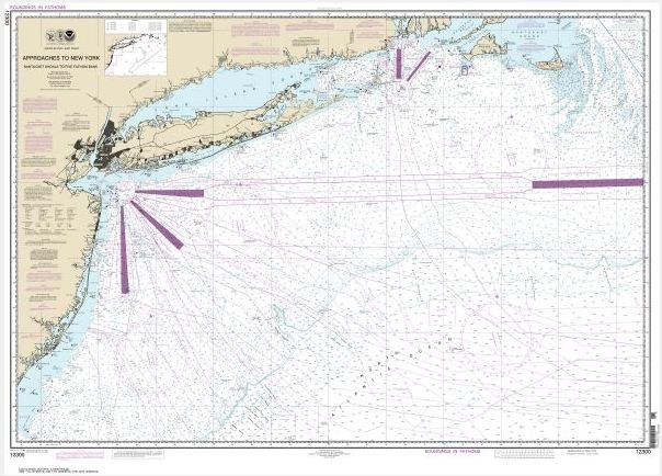 Approaches to New York, Nantucket Shoals to Five Fathom Bank (chart 12300)